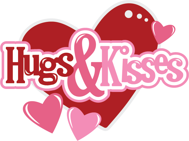 Hugs Kisses Svg Scrapbook Files Svg Files For Scrapbooking Svg Cutting Files For Scrapbooks Cute Svg Cuts