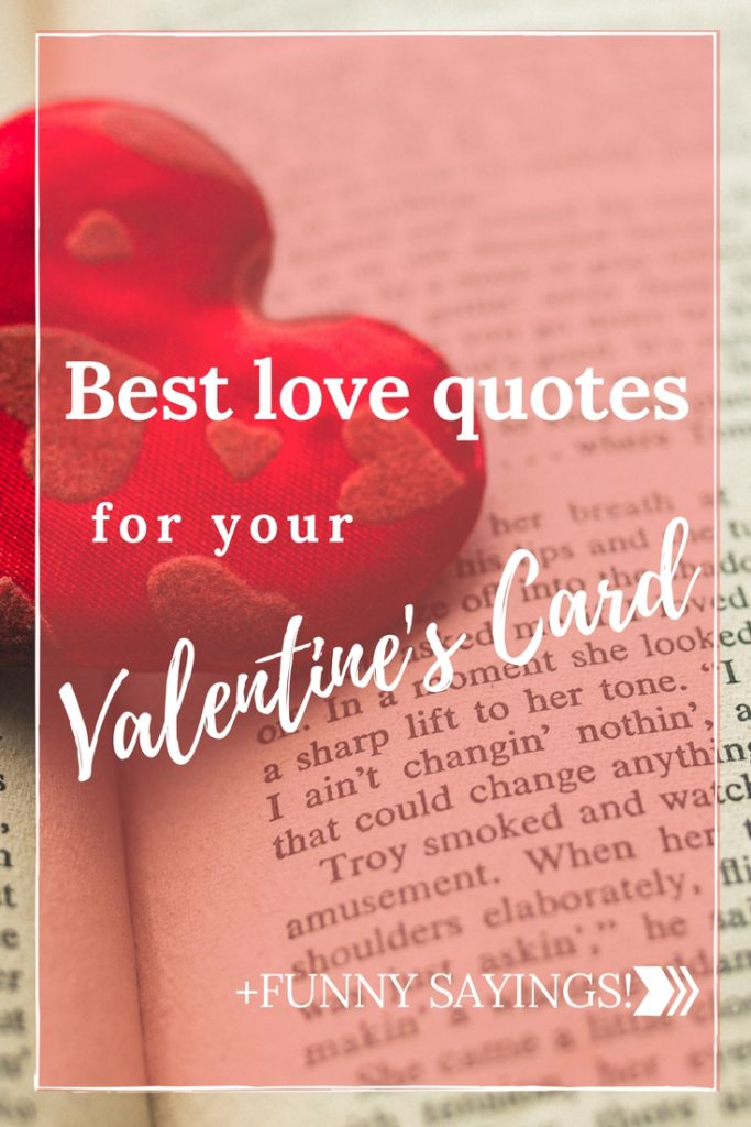 Best Love Quotes For Your Valentines Card