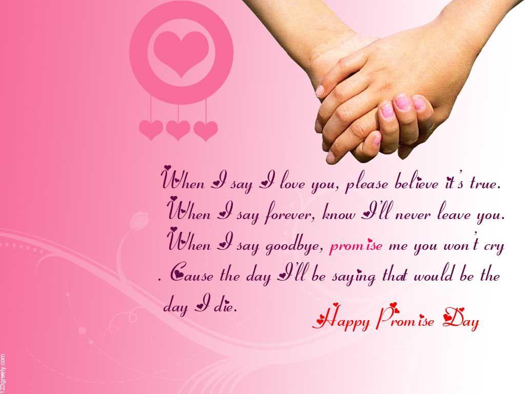Happy Promise Day Wallpaper Quote Wallpaper Promiseday Happy Valentine