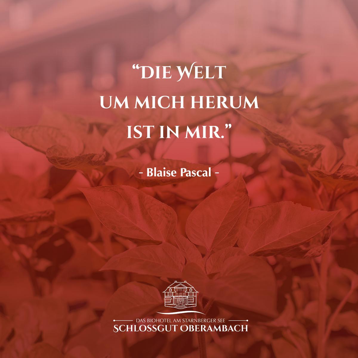 Inspirierende Zitate Welt Um Mich Herum Ist In Mir Blaise Pascal