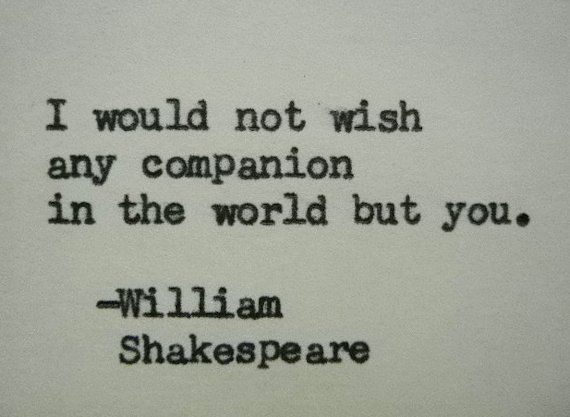 William Shakespeare Love Quote Typed On Typewriter Love Quote