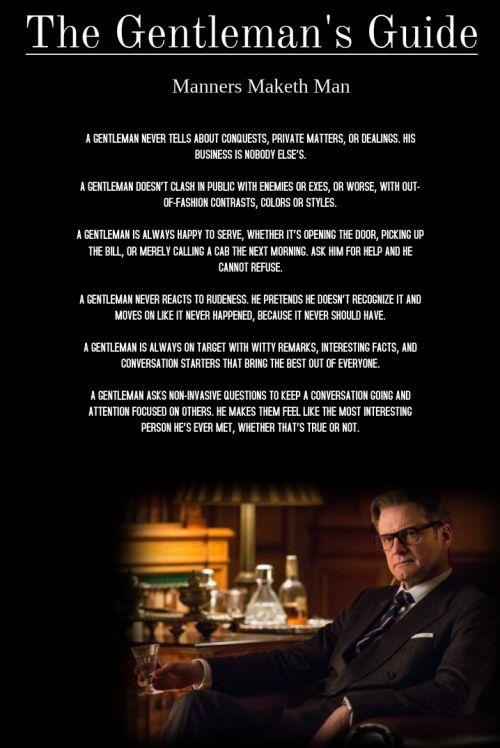Rules Of A Kingsman Gentleman Kingsman Gentleman Rules And Motivational