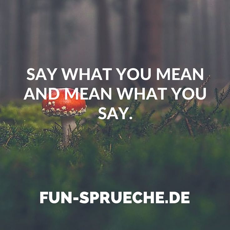 Say What You Mean And Mean What You Say Gefunden Auf Www Fun Englische Zitatespruche Englischselbermachen