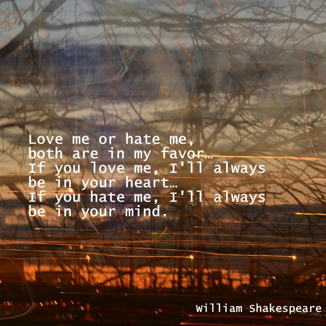 Shakespeare Liebeszitate William Shakespeare