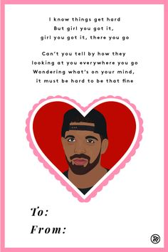 Valentines Cards Set To Drake Lyrics