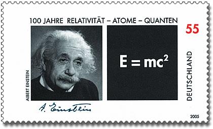 Briefmarke Zum  Geburtstag Der Relativitatstheorie