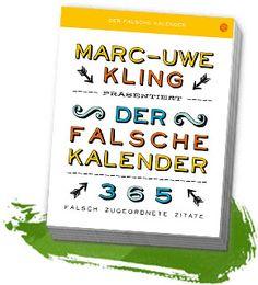 Onlineshop Marc Uwe Kling Geschichten Lieder Abreiskalender Der Falsche Kalender Von Marc
