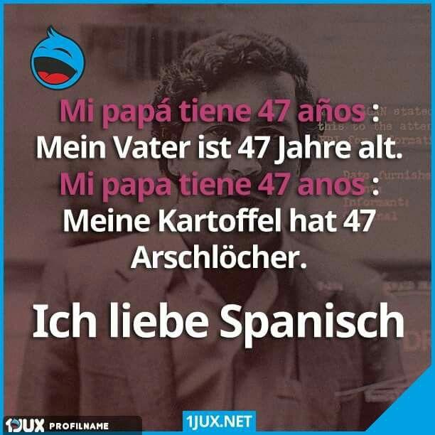 Lustige Sachen Lustige Bilder Auf Deutsch Zum Nachdenken Spanische Sprache Lustiges Spruche Zitate Sprachen Witze