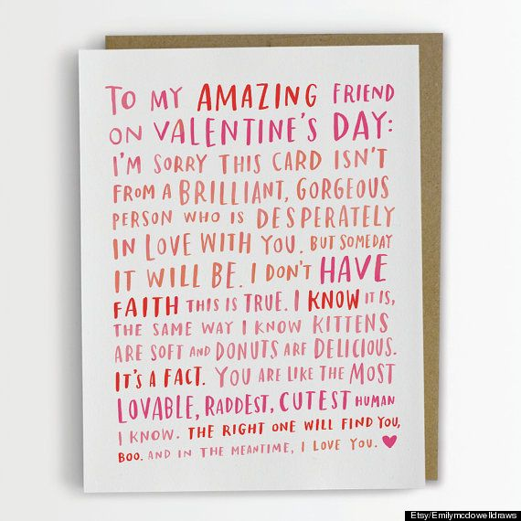 A Sweet Card For Your Single Bff On Valentines Day