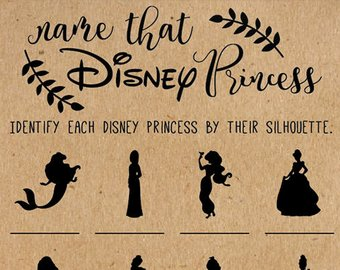 Name That Disney Princess Bridal Shower Game Disney Bridal Shower Games Wedding Shower Game Disney Princess Disney Wedding