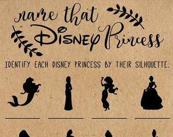Name That Disney Princess Bridal Shower Game Disney Bridal Shower Games Wedding Shower Game Disney Princess Disney Wedding