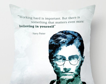 Harry Potter Pillow Harry Potter Cushion Quote Inspirationalharry Potter Gift
