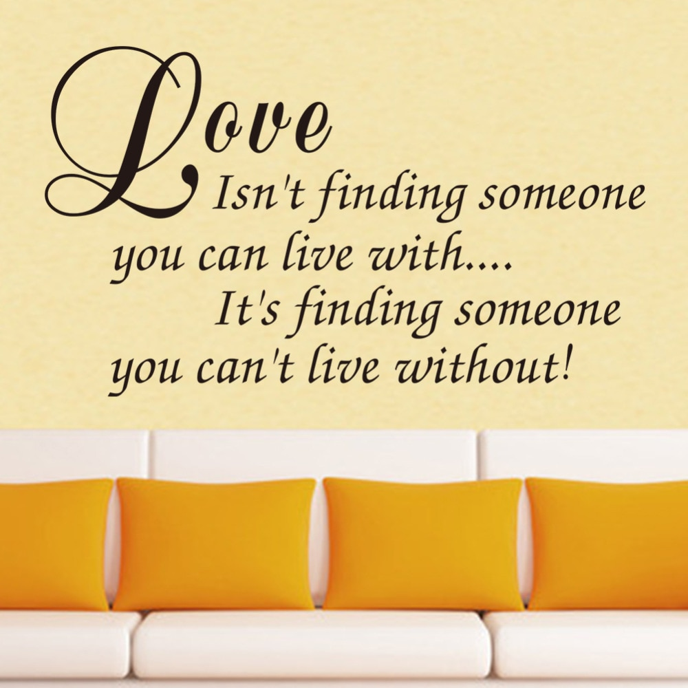 Love Isnt Finding Wall Decals Love Quotes Romantic Love Messages Wall Decals Vinyl Stickers Home Bedroom Decor Zy In Wall Stickers From Home Garden