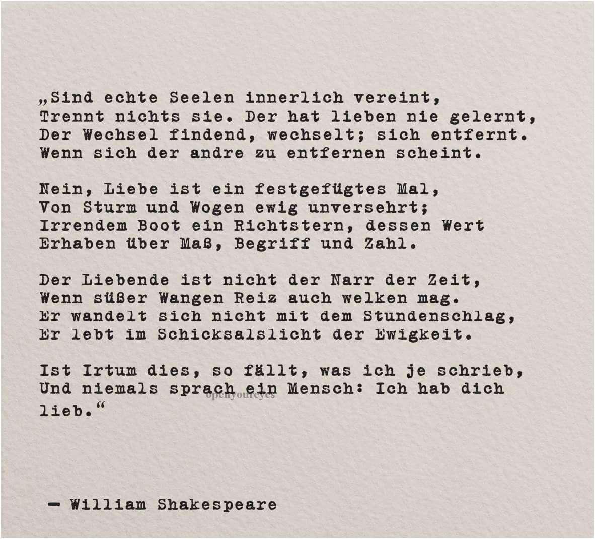 Zitate william shakespeare liebe