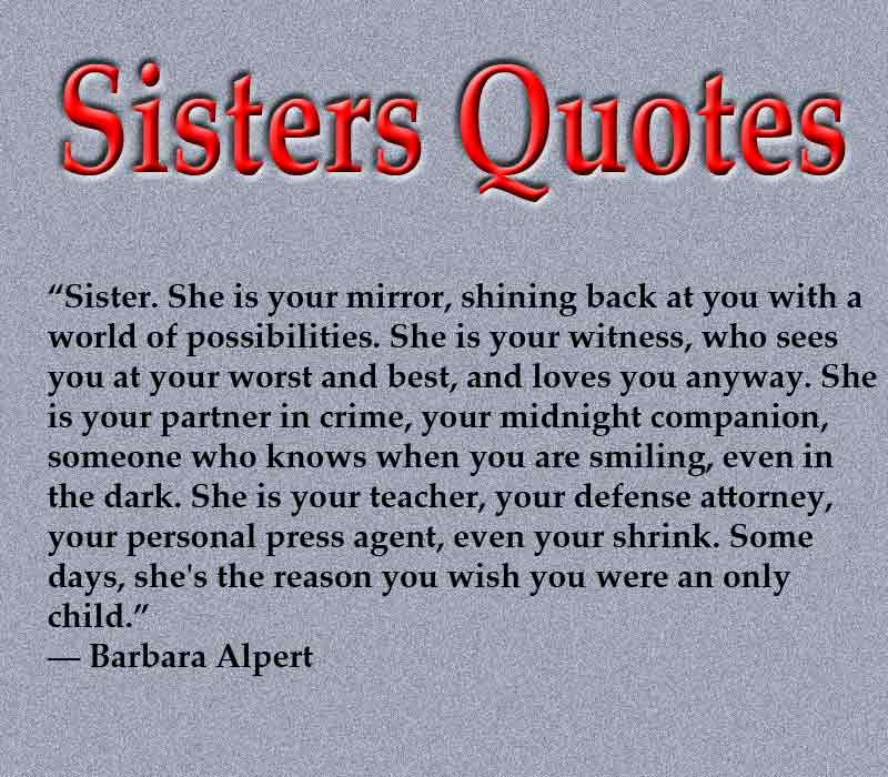 Sisters Quotes Sisters Quotes Image
