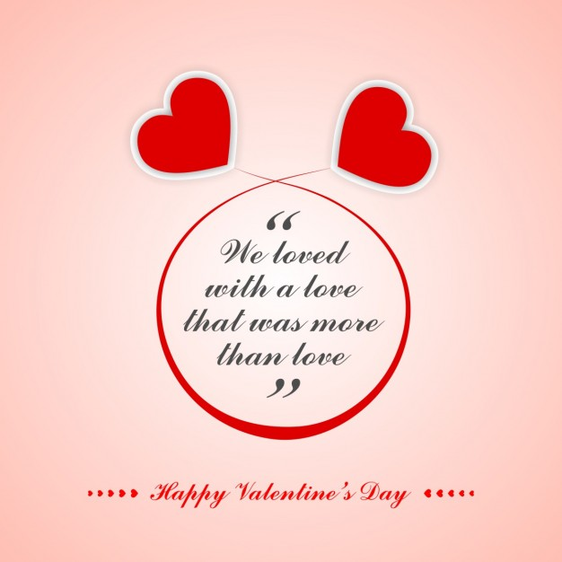 Valentine Quote With Hearts
