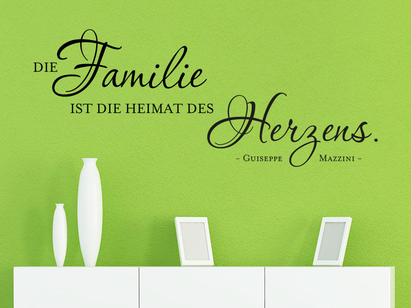 Wandtattoo Zitat Familie Ist Heimat Des Herzens