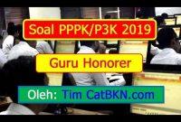 Contoh Soal P3k Soal P3k 2019 Guru Honorer Dan Kunci Jawaban Pembahasan Icpns