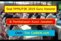 Contoh Soal P3k Soal Pppk Guru P3k Honorer 2019 Dan Pembahasan Kunci Jawaban Icpns