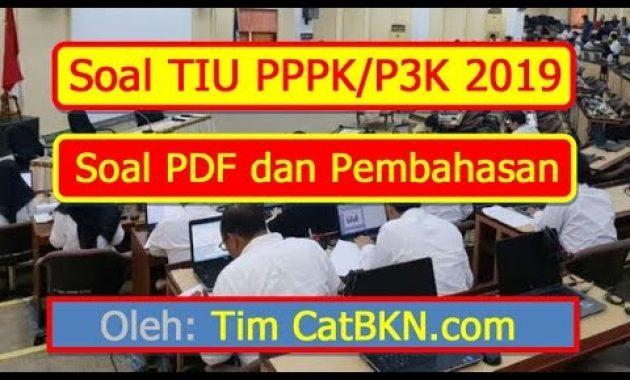Contoh Soal P3k Soal P3k Tiu Pppk 2019 Pdf Dan Pembahasan Kunci Jawaban Bersama Andrew Hidayat Qwerty