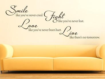 Englisches Wandtattoo Sprichwort Smile Like Uber Der Couch