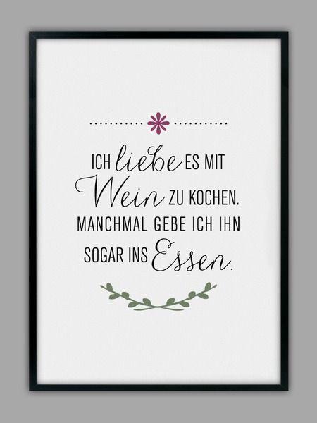 Mit Wein Kochen Kunstdruck Kuchen Poster
