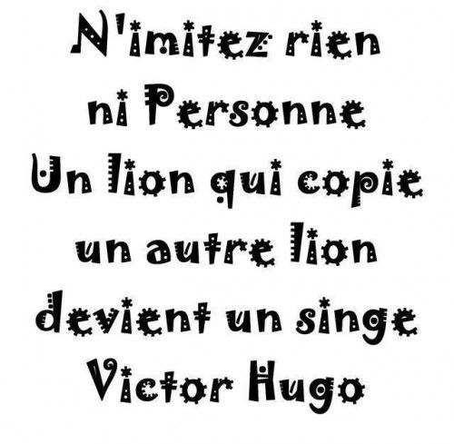 Hugo Victor Nimitez Rien Ni Personne Philosophie Pinterest Franzosische Zitate Franzosisch Und Zitat