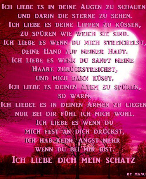 Liebes Spruch By Barbel Fur Meinen Schatz