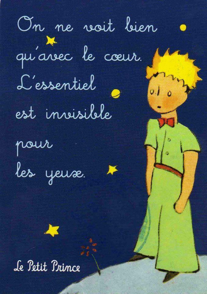 Le Petit Prince Antoine De Saint Exupery Citations Francais Pinterest Franzosisch Zitat Und Der Kleine Prinz