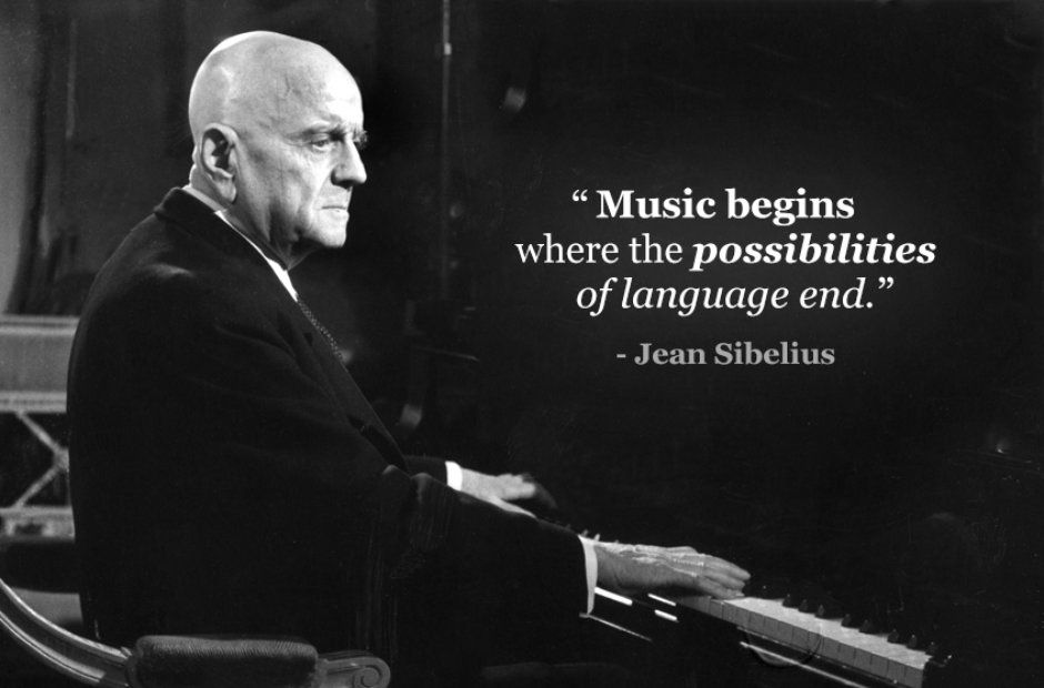 Klassische Musik Zitate  C B Komponisten Klassischer Musik  C B Musik Leben  C B Music Begins Where The Possibilities Of Language End Jean Sibelius