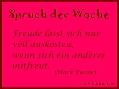 Spruch Der Woche  Mark Twain Cso Munich De