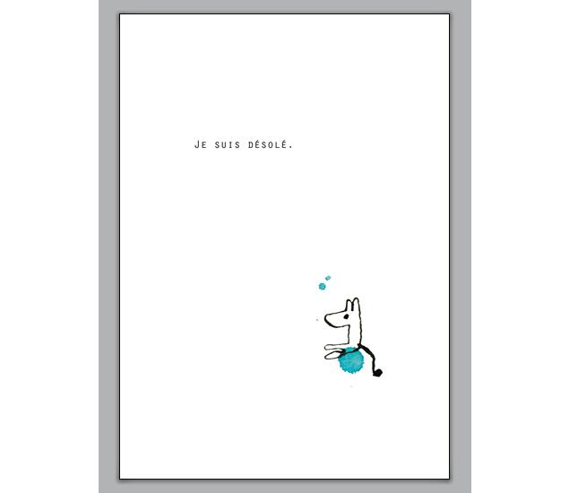 Entschuldigungskarte Auf Franzosisch Je Suis Desole Www Agrusskarten