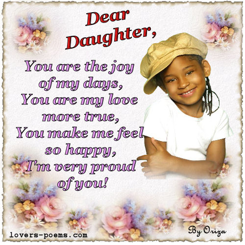 Message To A Daughter  C B Valentines