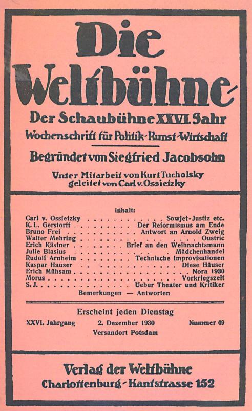 Literatur Der Weimarer Republik Umfasst Wahrend Der Weimarer Republik Entstandene Und Zuser Zeit Vom Lesenden Publikum Bevorzugte Literatur