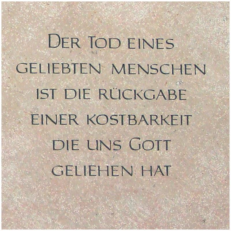 Grabsteinsprueche Grabspruch Grabinschrift Gravur Tod Gott