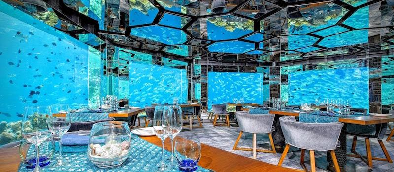 Restoran Bawah Laut Sea Anatara Kihavah Resort Maladewa - Andrew Hidayat (AndrewHidyat.com)