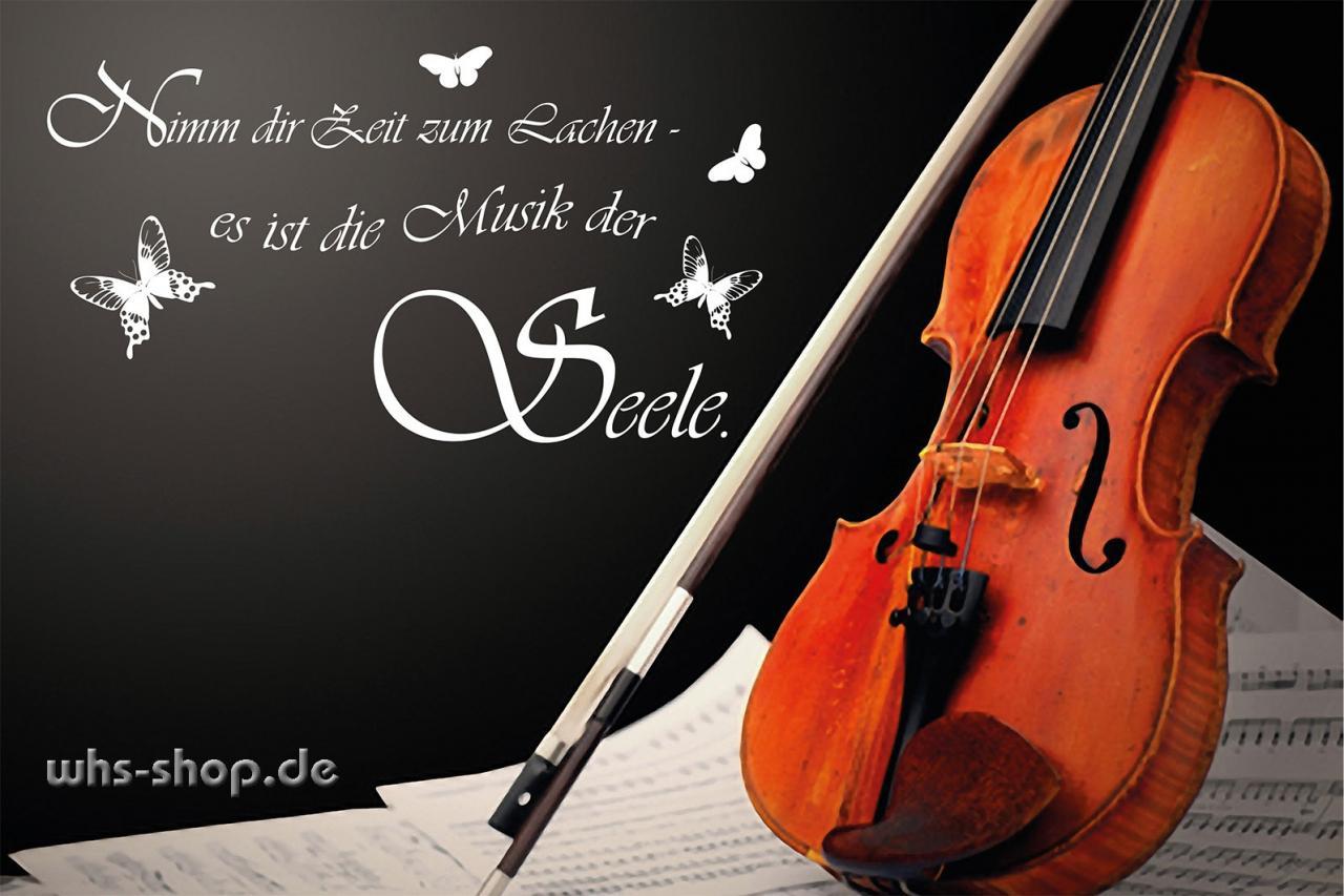 Wandtattoo Nimm Dir Zeit Zum Lachen Es Ist Musik Der Seele