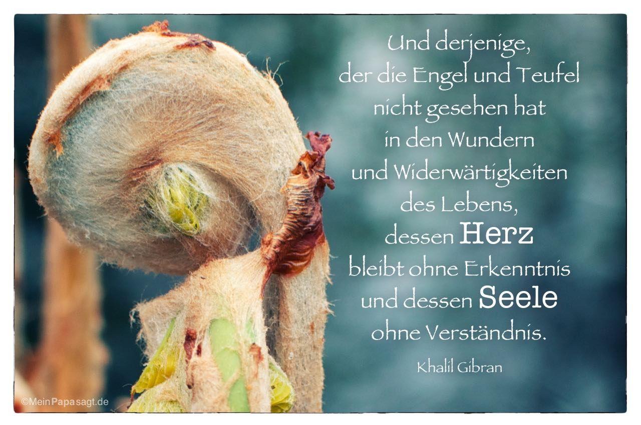 Und Derjenige Der Engel Und Teufel Nicht Gesehen Hat In Den Wundern Und Widerwartigkeiten Des Lebens Dessen Herz Bleibt Ohne Erkenntnis Und Dessen
