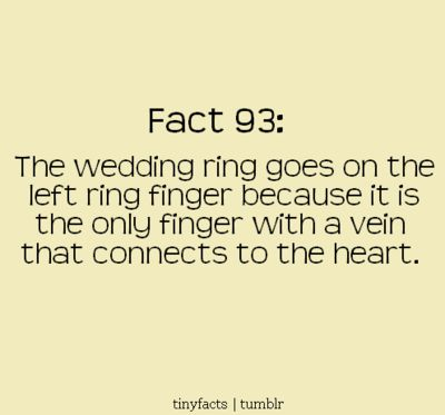 I Love That This Is The Reason For Wedding Ring Finger Placement