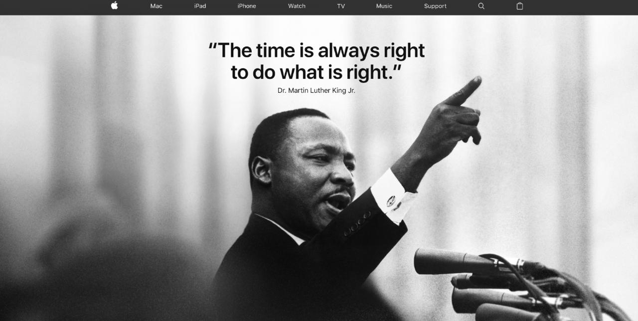 Apple Erinnert Dr Martin Luther King Jr