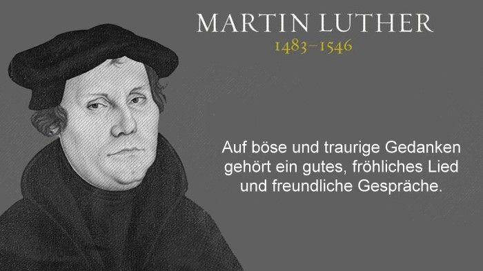 Martin Luther Bose Und Traurige Gedanken