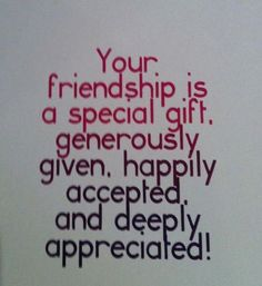 Friendship Is Special Gift