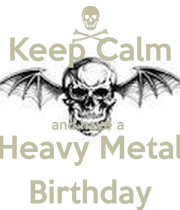 Heavy Metal Metalhead Happy Birthday Metal Head