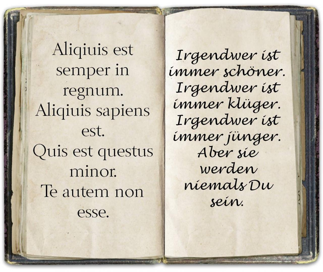 Spruch Latein