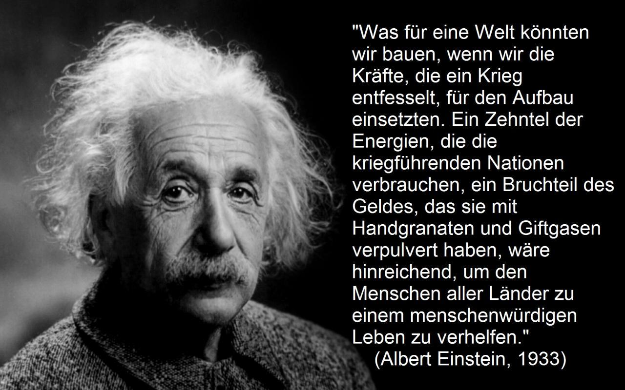 Albert Einstein Was Fur Eine Welt Konnten Wir Bauen