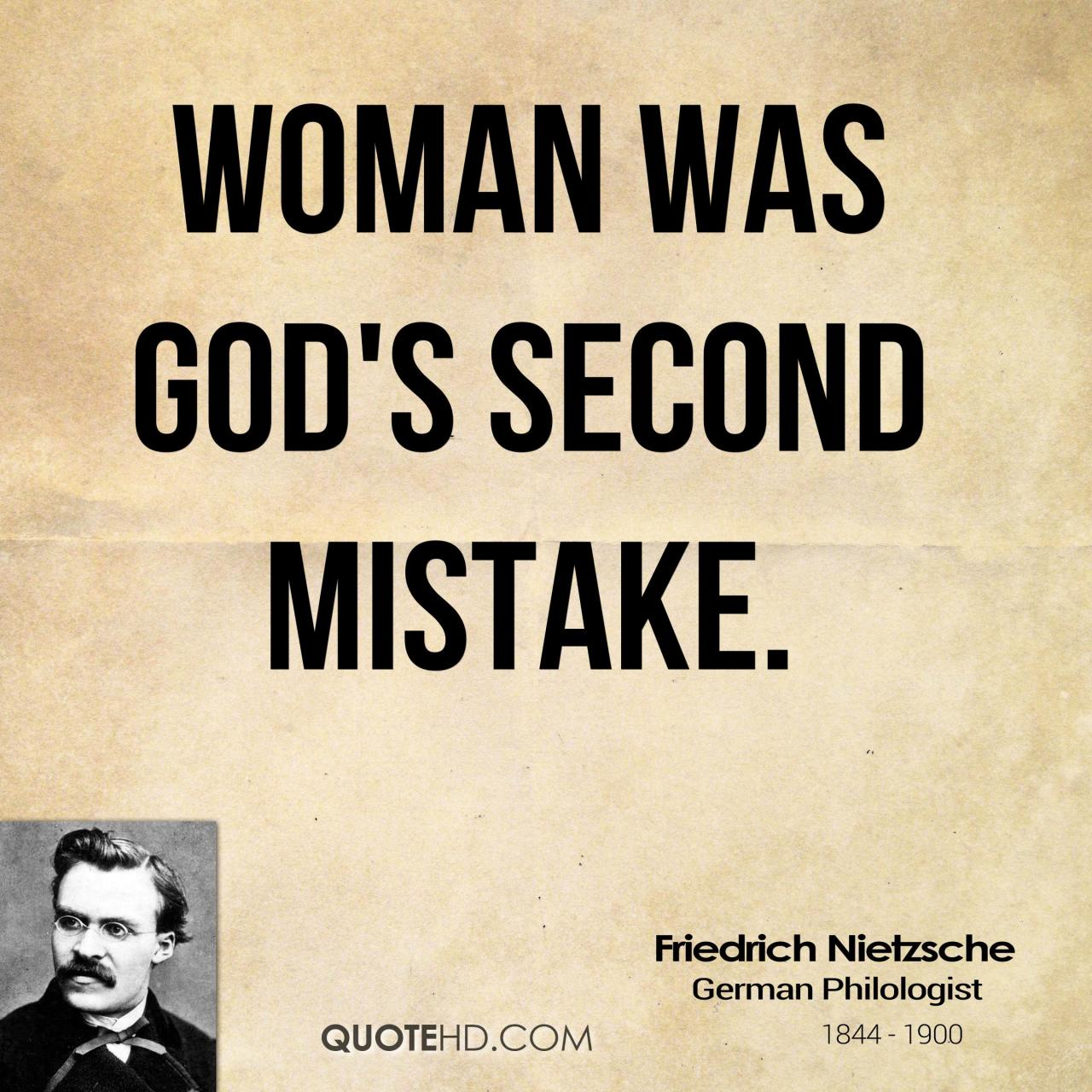 Woman Was Gods Second Mistake