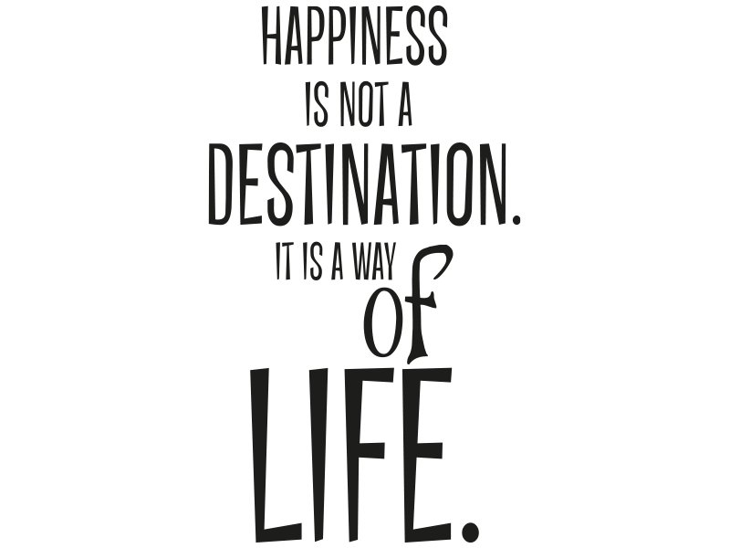 Wandtattoo Happiness Is Not A Destination Its A Way Of Life