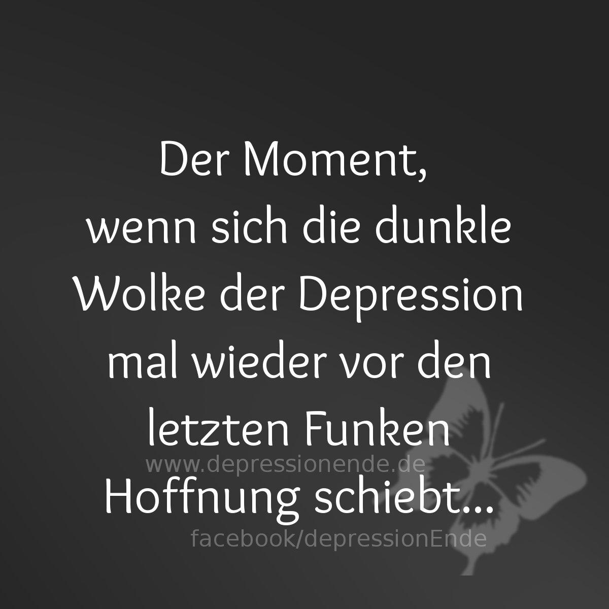 Hoffnungslos Der Moment Wenn Sich Dunkle Wolke Der Depression Mal Wieder Vor Den Letzten Funken