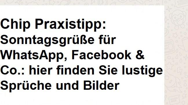 Sonntagsgruse Fur Whatsapp Facebook Co Hier Finden Sie Lustige Spruche Und Bilder