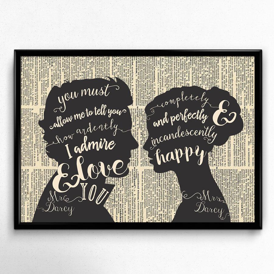 Stolz Und Vorurteil Jane Austen Kunstdruck Pride Prejudice Zitat Geschenk